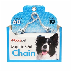 Boss Pet Large Dog Tie-Out Twist Chain 3.5mm x 10'