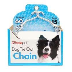 Boss Pet Large Dog Tie-Out Twist Chain 3.5mm x 15'