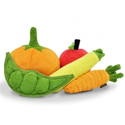 Garden Fresh Plush Toys (15 pc with FREE Veggie Box Display)