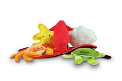 Under the Sea Plush Toys (15 pc with FREE Treasure Chest Display)
