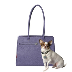 Embossed Ostrich Monaco Tote in Periwinkle