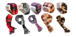 Aviator Hat-Scarf Sets
