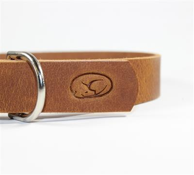 Light Brown Thick Leather Dog Collar