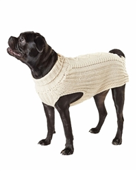 Hotel Doggy Cable Knit Sweater - Oatmeal