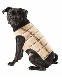 Hotel Doggy Intarsia Plaid Sweater - Incense Plaid