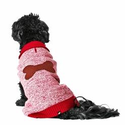 Intarsia Single Bone Sweater - Cranberry Red