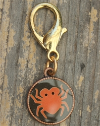 Spider Disc Collar Charm