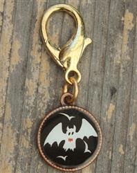 Bat Disc Collar Charm