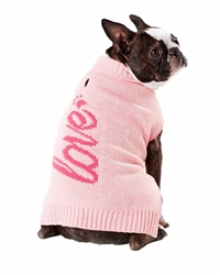"Hotel Doggy Script Word Sweater ""Love"""