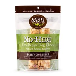 "Earth Animal No-Hide Pork Medium (7"") Dog Chews, 2 Pack"