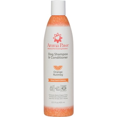 Orange Nutmeg Vetiver Dog Shampoo & Conditioner in One (13.5 oz)