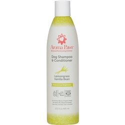 Lemongrass Vanilla Bean Dog Shampoo & Conditioner in One (13.5 oz)
