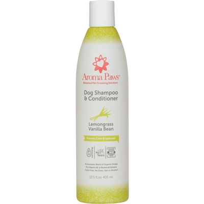 Lemongrass Vanilla Bean Dog Shampoo & Conditioner in One (13.5 oz)