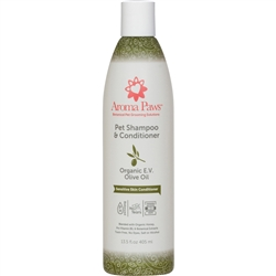 Organic Olive Oil Fragrance Free Dog Shampoo & Conditioner in One (13.5 oz)