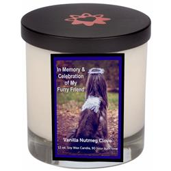 Royal Blue Memorial Candle With Lid (12.0 oz)