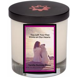 Burgundy Memorial Candle With Lid (12.0 oz)