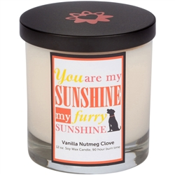 My Furry Sunshine Candle With Lid (12.0 oz)