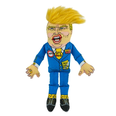 "Small Classic Donald Dog Toy - 12"" Presidential Parody"