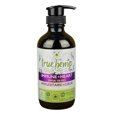 True Hemp IMMUNE+HEART Supplement Oil for Dogs - 8floz