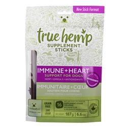 True Hemp IMMUNE+HEART Supplement Sticks for Dogs - 6.6oz