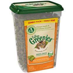 GREENIES FELINE DENTAL TREATS OVEN ROASTED CHICKEN 11OZ