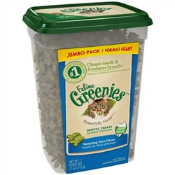 GREENIES FELINE DENTAL TREAT TEMPTING TUNA 11OZ