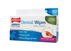 NYLABONE ADVANCED ORAL CARE DENTAL FINGER WIPES 20CT