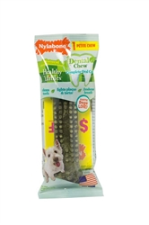 NYLABONE HEALTHY EDIBLES DENTAL CHEW PETITE FOIL WRAPPED