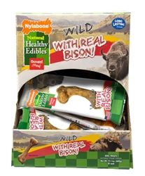 NYLABONE HEALTHY EDIBLES WILD BISON DISPLAY SMALL 30CT