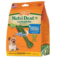 NYLABONE NUTRI DENT COMPLETE CHICKEN MINI 32PC