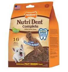 NYLABONE NUTRI DENT COMPLETE FILET MINGION T-REX SMALL 16CT