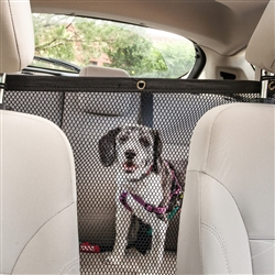 Squared Easy-Hook Mesh Backseat Safety Barrier for Cars by Pet Life