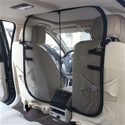 Easy-Hook Mesh Backseat Safety Barrier For Cars