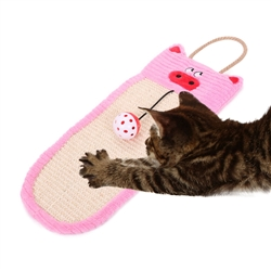 Sisal & Jute Hanging Cat Scratcher Lounge With Toy