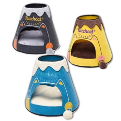 Designer Triangular Pet Bed House With Toy
