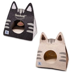 Kitty Ears' On-The-Go Collapsible Pet Bed With Toy by Touchdog