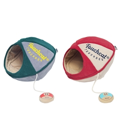 Oval Walk-Through Pet Bed With Toy