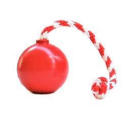 SodaPup USA-K9 - Natural Rubber Cherry Bomb Chew Toy - Tug Toy - Retrieving Toy -Treat Dispenser - for Heavy Chewers - Made in USA - Red