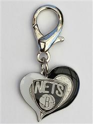 Brooklyn Nets NBA Dog Collar Charm