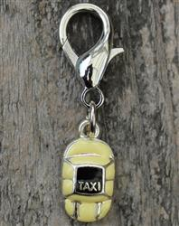 Taxi Please! Dog Collar Charm