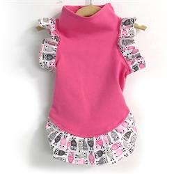 Pink Dress with Owl Print on Arm & Hem - COPY