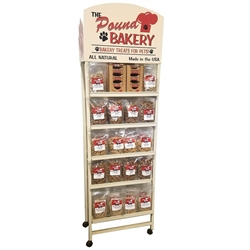 Display Stand with Packaged Dog Treats Only
