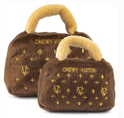 Classic Brown Chewy Vuiton Plush Toy