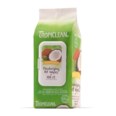 Tropiclean Hypoallergenic Wipes For Pets (100ct)