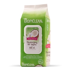 Tropiclean Deep Cleaning Wipes For Pets (100ct)