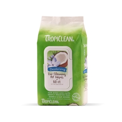 Tropiclean Ear Cleaning Wipes For Pets (50ct)