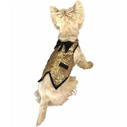 Lt. Gold Doggie Sequins Tuxedo