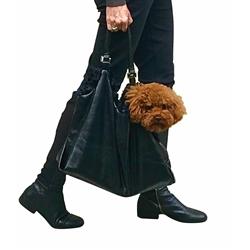 Black Hollywood Dog Tote Carrier