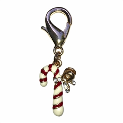 Candy Cane Dog Collar Charm