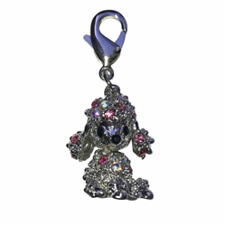 Poodle Dog Collar Charm